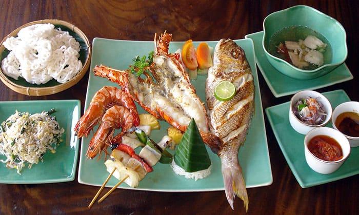 龙虾海鲜晚餐
